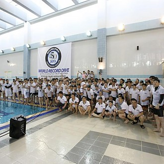 World Record with 135 divers